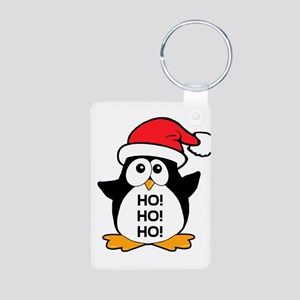 Cute Christmas Penguin Ho Ho Ho Aluminum Photo Key