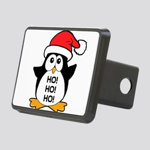 Cute Christmas Penguin Ho Ho Ho Rectangular Hitch