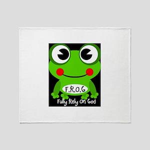 Cute Cartoon Frog Fully Rely On God F.R.O.G. Stad