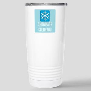 Snowmass Snowflake Stainless Steel Travel Mug