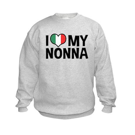 I Love My Nonna Kids Sweatshirt