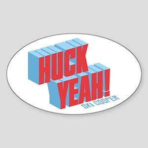 Huck Yeah Ski Cooper Sticker (Oval)