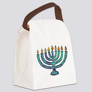Menorah Canvas Lunch Bag
