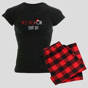 Ho Ho Oh Shut Up Women's Dark Pajamas