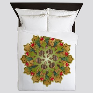Holiday Snowflake Queen Duvet