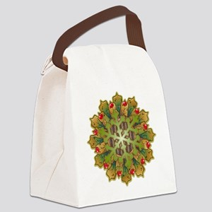 Holiday Snowflake Canvas Lunch Bag