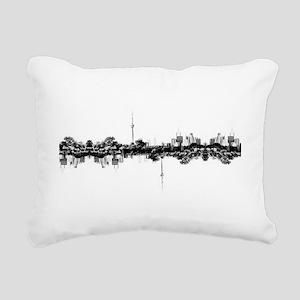 Toronto Reflection Rectangular Canvas Pillow
