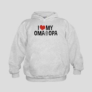 I Love My Oma and Opa Kids Hoodie
