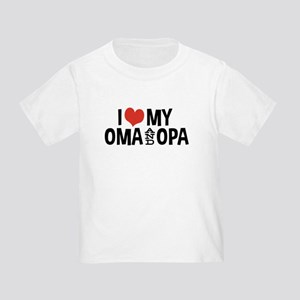 I Love My Oma and Opa Toddler T-Shirt