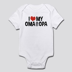 I Love My Oma and Opa Infant Bodysuit