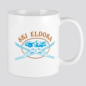 Eldora Crossed-Skis Badge Mug