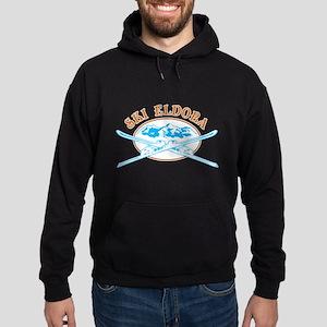 Eldora Crossed-Skis Badge Hoodie (dark)