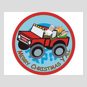 Country Santa Small Poster