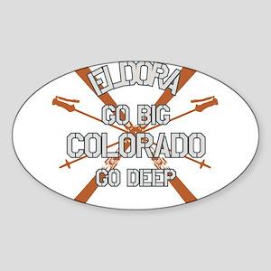 Go Big Eldora Sticker (Oval)