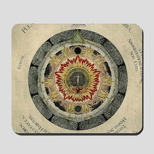 Cosmic Rose Alchemical Mousepad