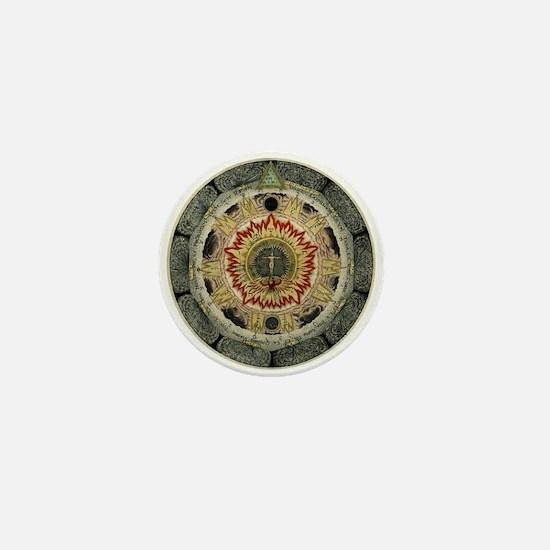 Cosmic Rose Mini Button