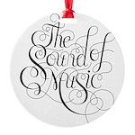 sound of music logo Round Ornament