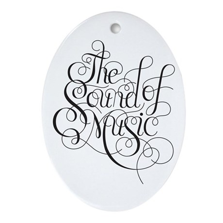 sound of music logo Ornament (Oval)