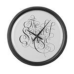 sound of music logo Large Wall Clock