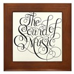 sound of music logo Framed Tile