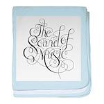 sound of music logo baby blanket