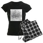 sound of music logo Women's Dark Pajamas