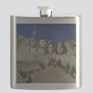 Native Mt. Rushmore Flask