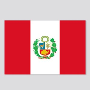 Peru - National Flag - 1825-1950 Postcards (Packag
