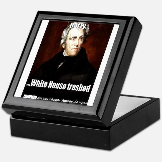 AJ Trashed White House Keepsake Box