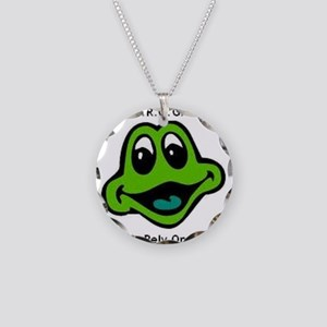 F.R.O.G. Fully Rely On God Frog Face Necklace Circ
