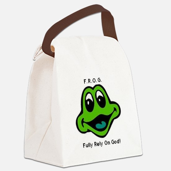F.R.O.G. Fully Rely On God Frog Face Canvas Lunch