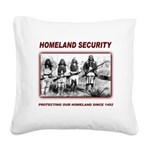Homeland Security Native Perspective Square Canvas