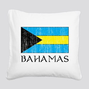 Bahamas Flag Square Canvas Pillow