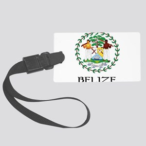 Coat of arms of Belize Large Luggage Tag