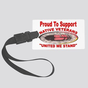 NATIVE VETERAN ACCESSORIES Large Luggage Tag