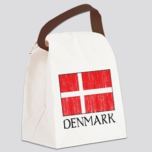 Denmark Flag Canvas Lunch Bag