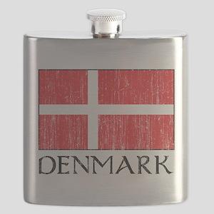 Denmark Flag Flask