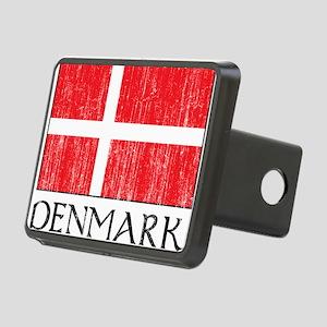 Denmark Flag Rectangular Hitch Cover