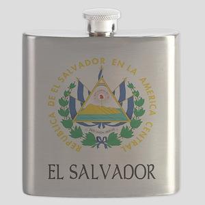 Coat of Arms of El Salvador Flask