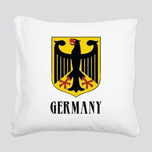 German Coat of Arms Square Canvas Pillow