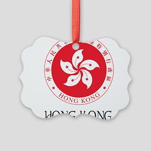 Hong Kong SAR Regional Emblem Picture Ornament