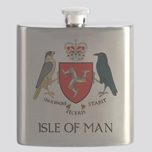 Isle of Man coat of arms Flask