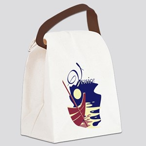 Venice Boat Canvas Lunch Bag