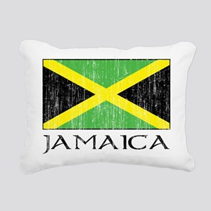 Jamaica Flag Rectangular Canvas Pillow