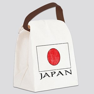 Japan Flag Canvas Lunch Bag