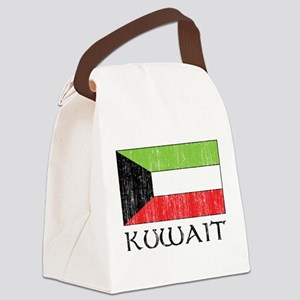 Kuwait Flag Canvas Lunch Bag