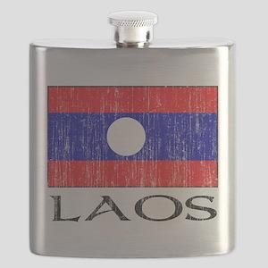 Laos Flag Flask