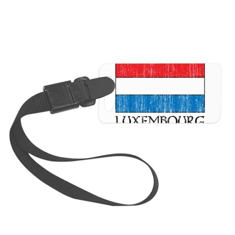 Luxembourg Flag Small Luggage Tag