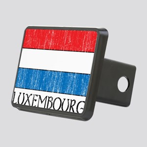 Luxembourg Flag Rectangular Hitch Cover