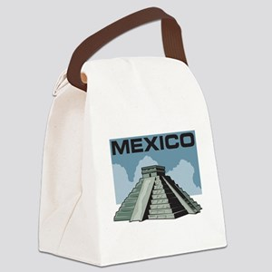 Mexico Pyramid Canvas Lunch Bag